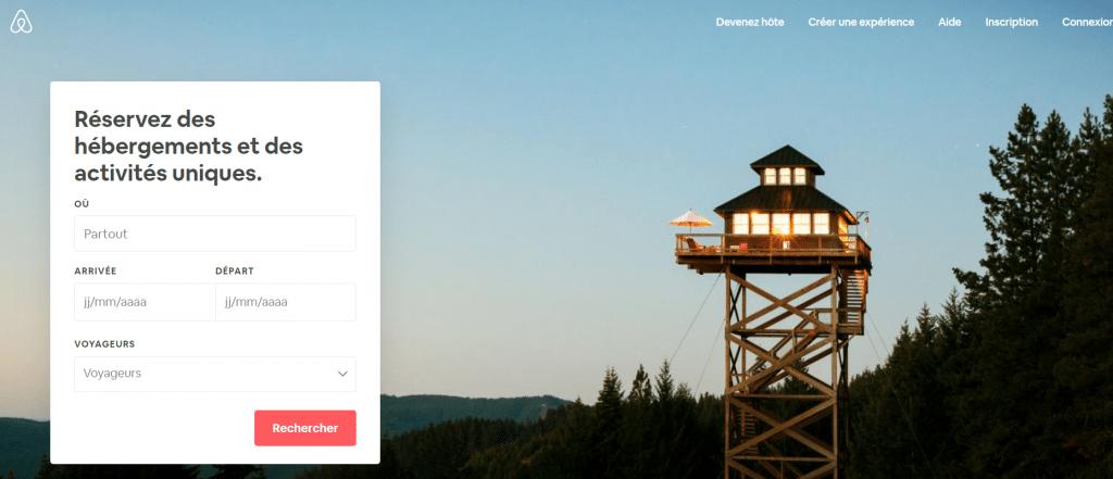 Airbnb pour réserver une chambre ou un appartement chez l'habitant