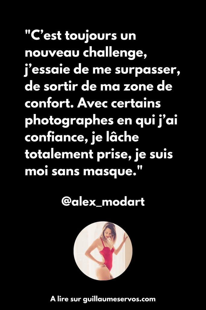Citation de la modèle photo Alex Modart