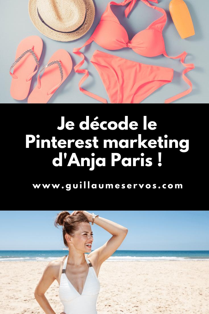 Comment Anja Paris utilise Pinterest pour son business ? Je décode le Pinterest marketing de la marque française de maillots de bain.
