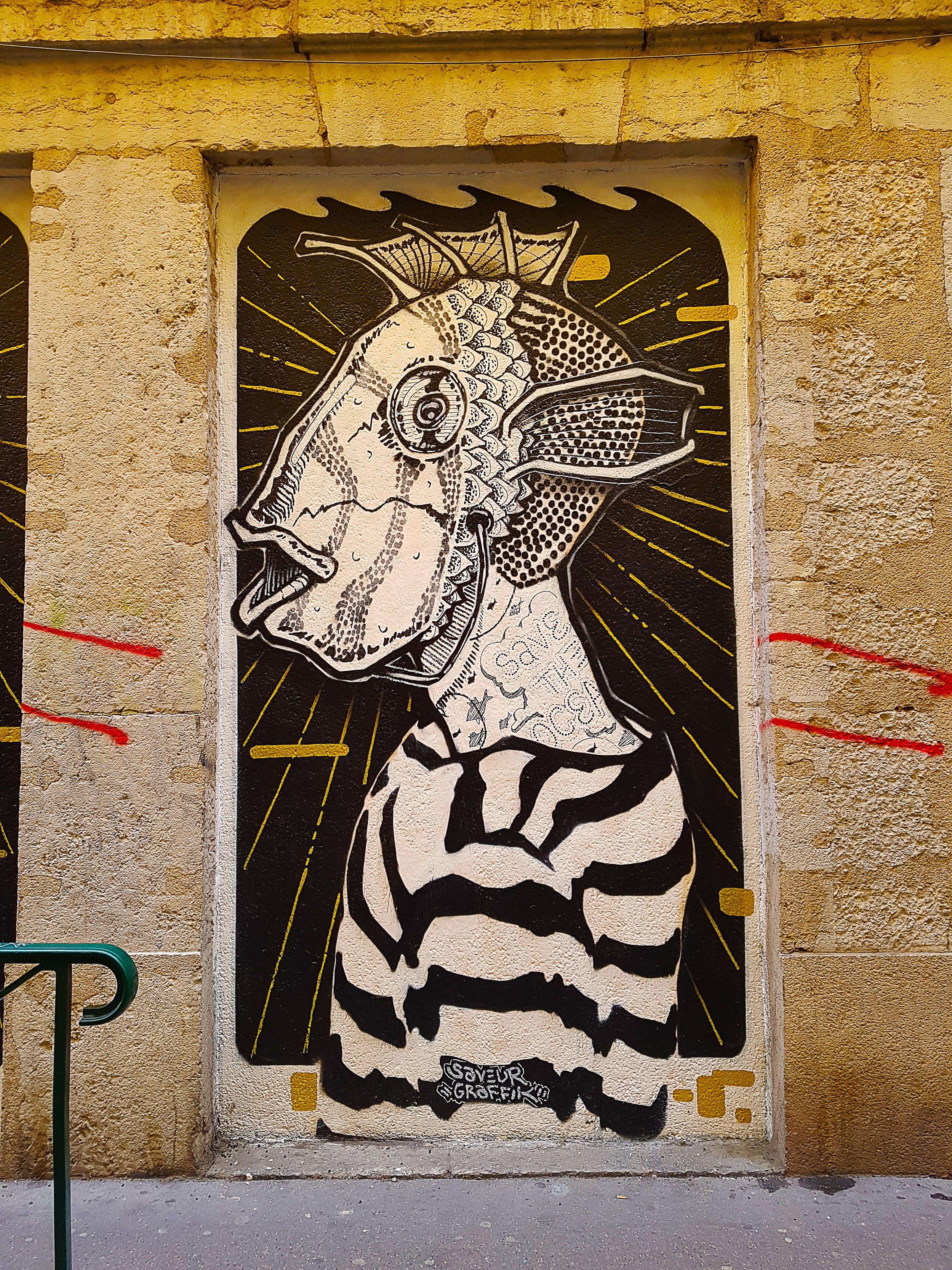FISH par le street artiste français Antoine Chateau