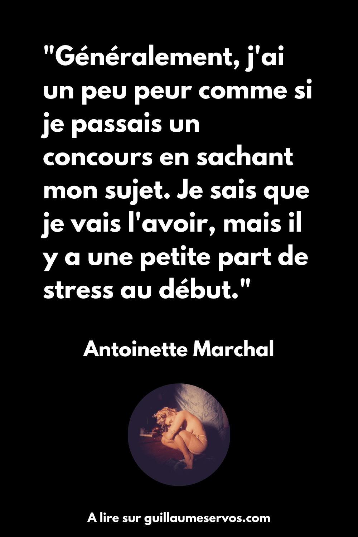 Citation d'Antoinette Marchal