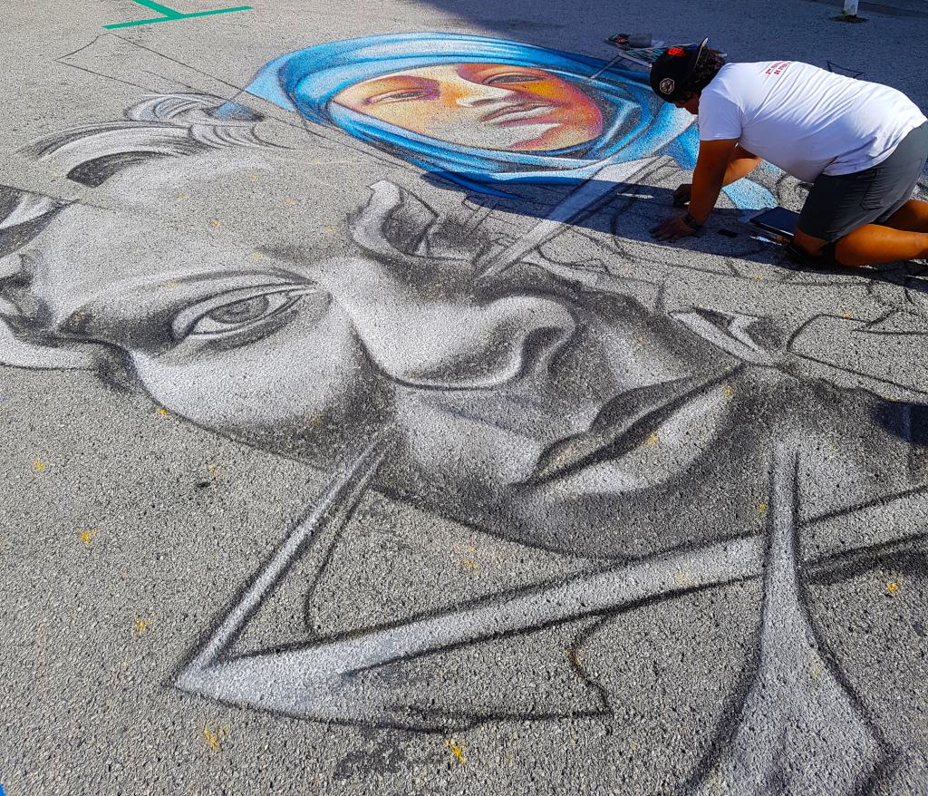 édition 2018 du festival street art d'Oyonnax dans l'Ain
