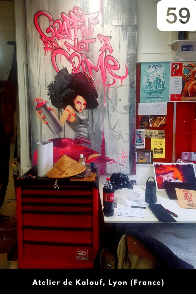 #59 Ma visite de l'atelier de Kalouf à Lyon (octobre 2020)