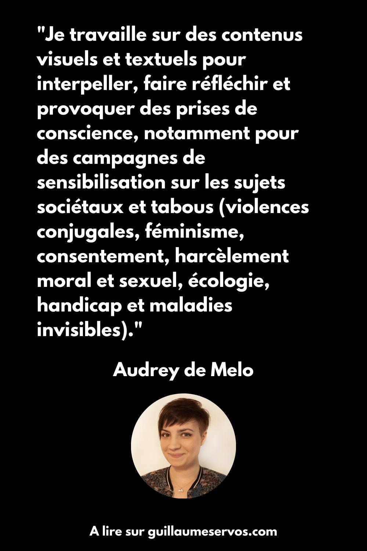 Citation d'Audrey de Melo