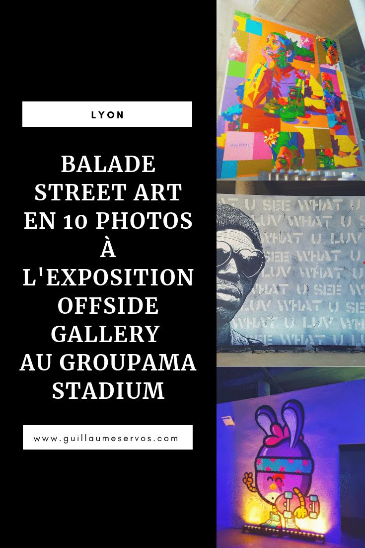Découvre l'exposition street art Offside Gallery au Groupama Stadium de Lyon. Je te révèle tout sur les street artistes que tu vas voir, mes coups de cœur, les Birdy Kids