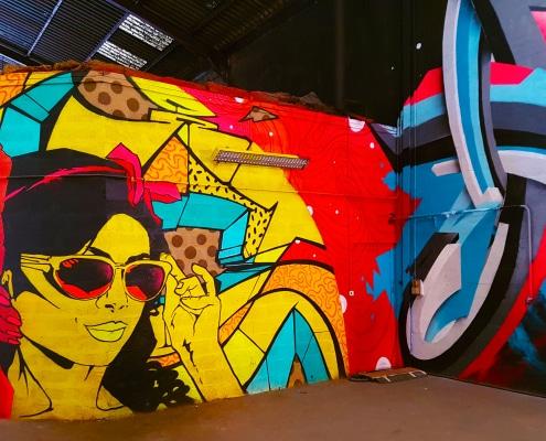 Découvre le festival street art Peinture Fraîche à la Halle Debourg à Lyon. Au menu : mes coups de cœur, mes découvertes et les street artistes que tu as ratés.