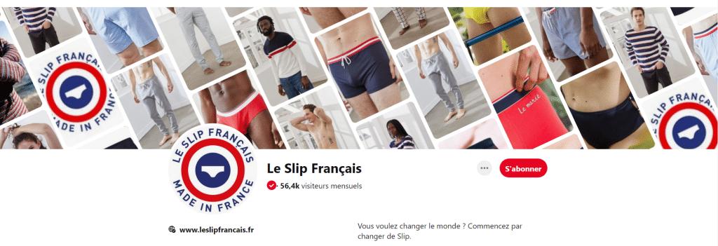La photo de couverture du Slip Français sur Pinterest