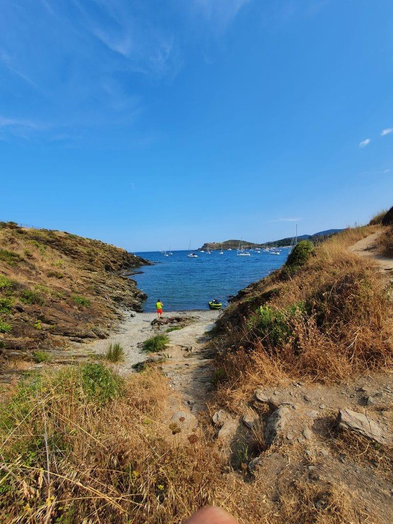 Les criques à proximité de la plage de Bernardi à Port-Vendres