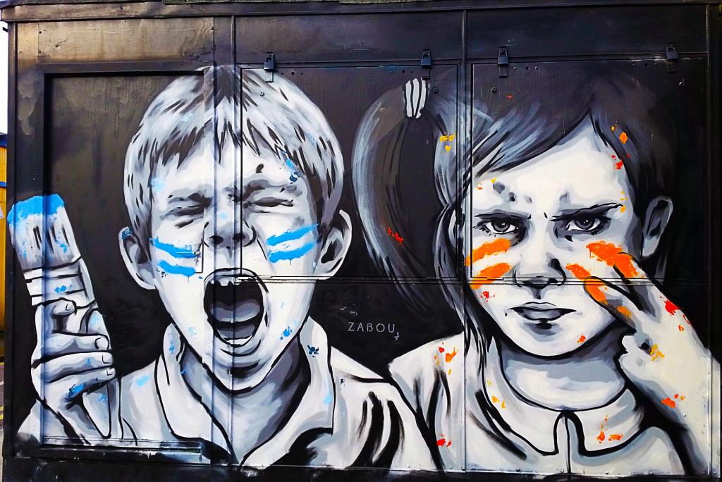 Zabou dans le quartier de Bethnal Green à Londres, meilleure ville en Europe pour voir du street art