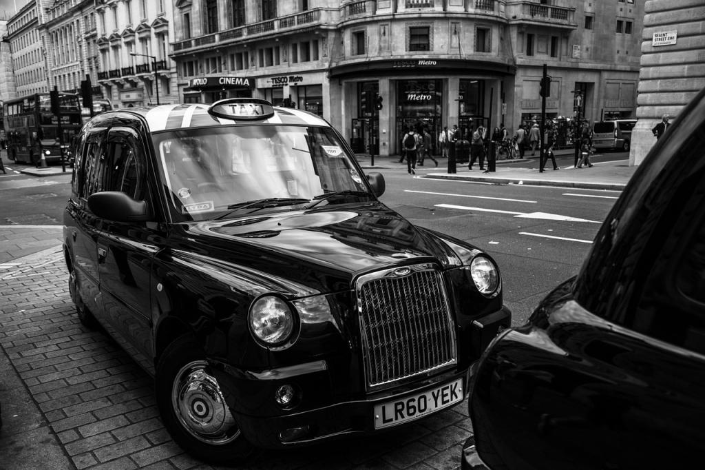 Black Cab londonien (taxi) dans les anecdotes insolites sur Londres
