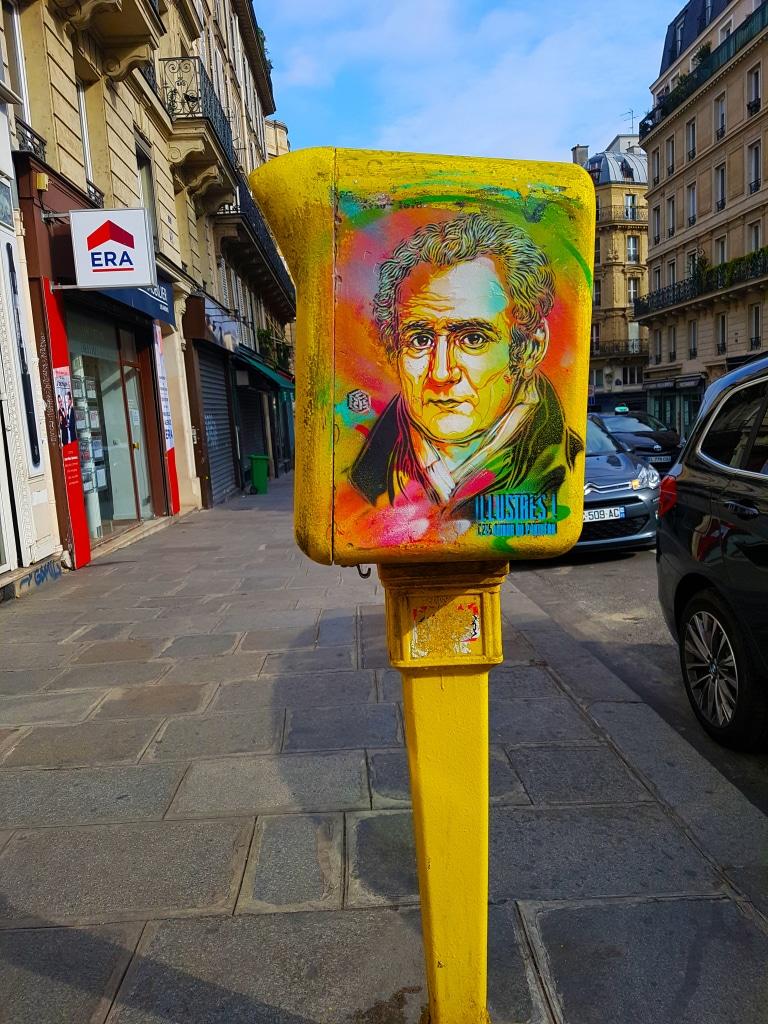 La boite aux lettres C 215, Panthéon, street art Paris