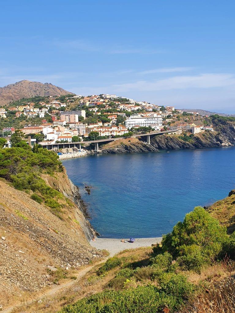 La plage Del Cano à Cerbère, près de Collioure