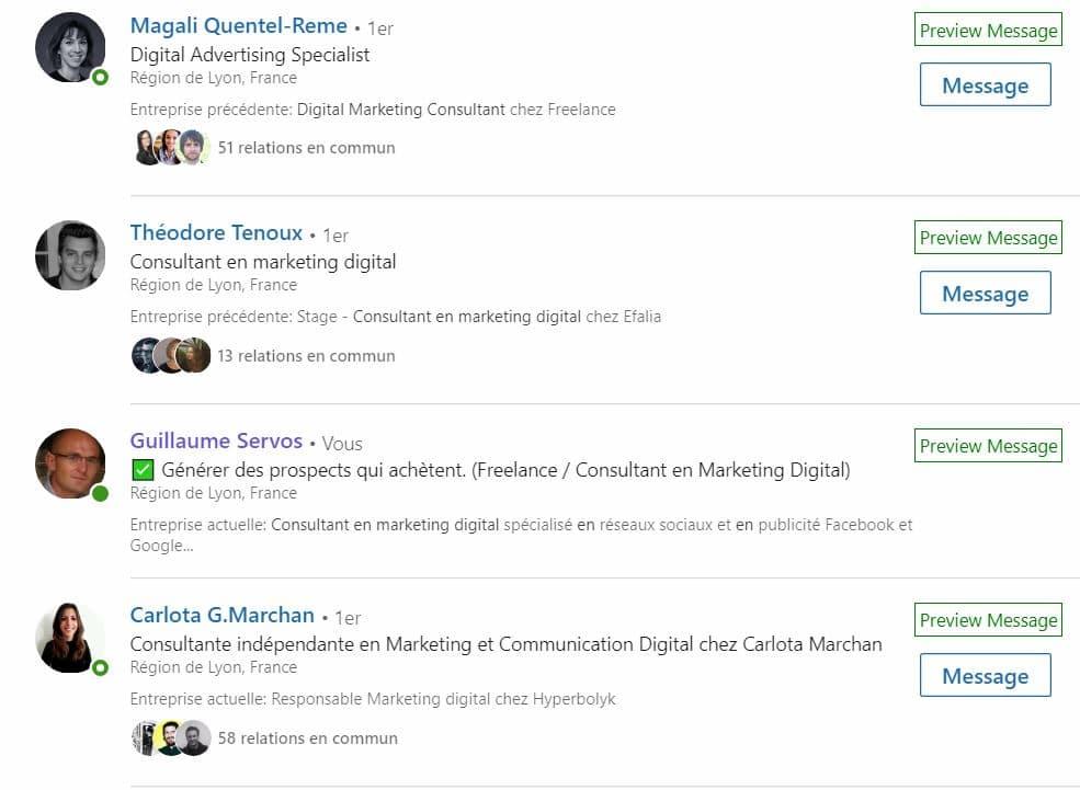 Capture de mon profil LinkedIn pour illustrer l'intitulé de poste sur LinkedIn, personal branding