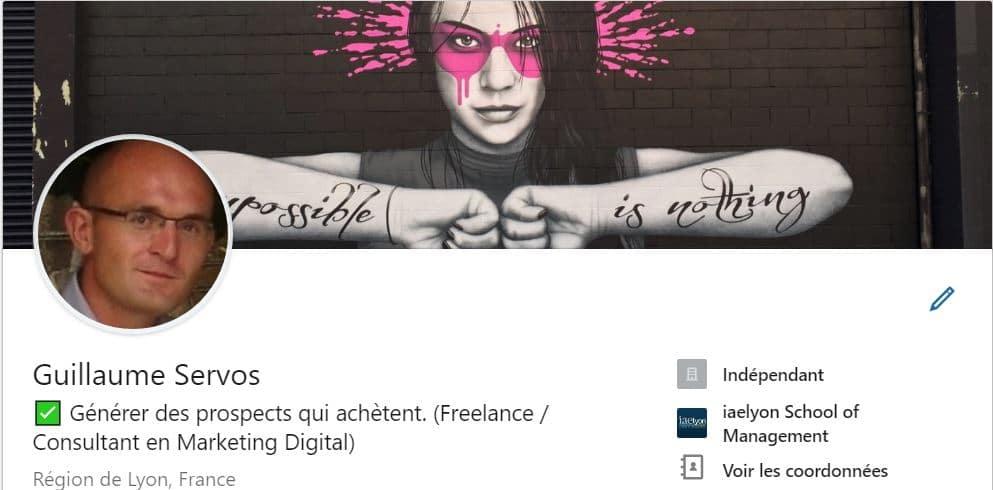 Capture de mon profil LinkedIn pour illustrer le personal branding sur LinkedIn