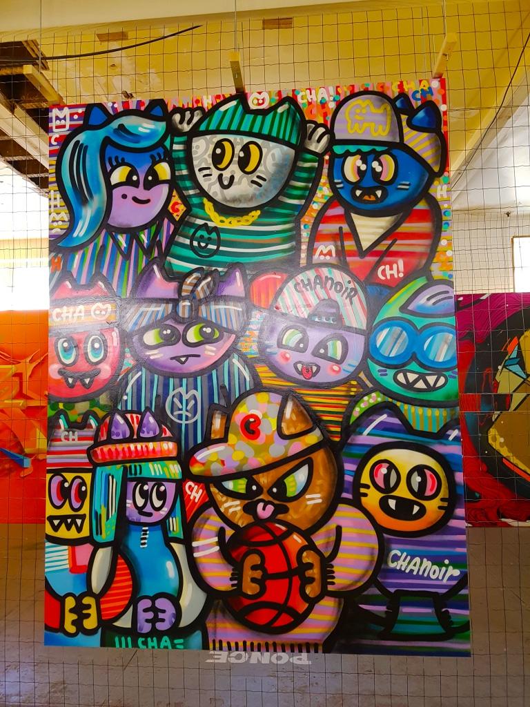 Découvre le street art de CHANOIR à l'exposition ZOO Art Show à Lyon