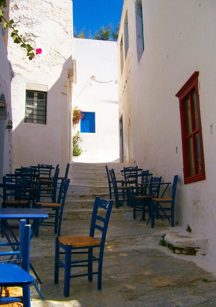 la douceur de vivre à Chora, Amorgos dans les Cyclades en Grèce