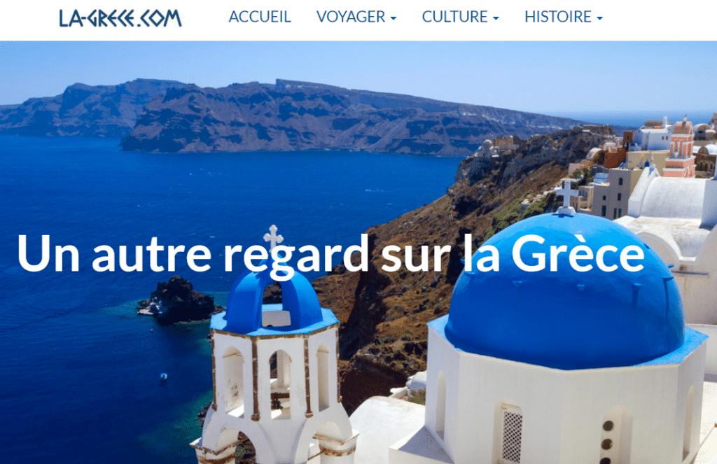 Le site internet La-grece.com