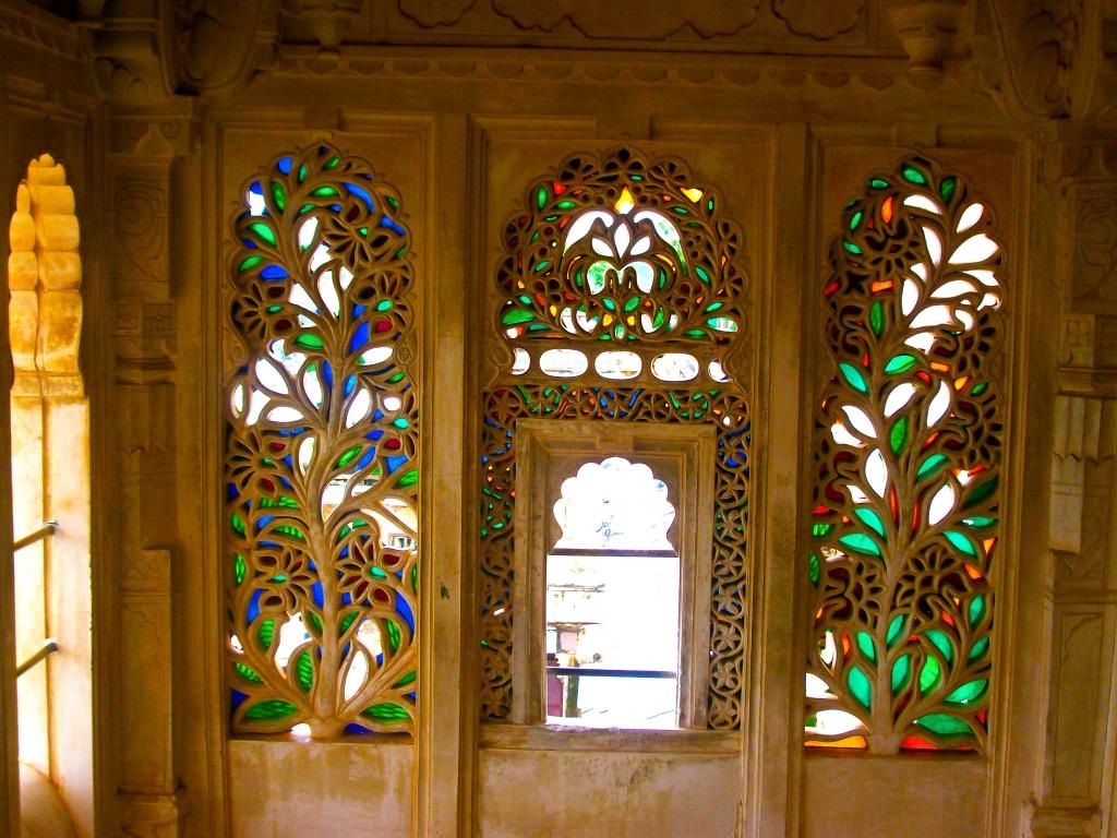 A l'intérieur du City Palace d'Udaipur (Inde)