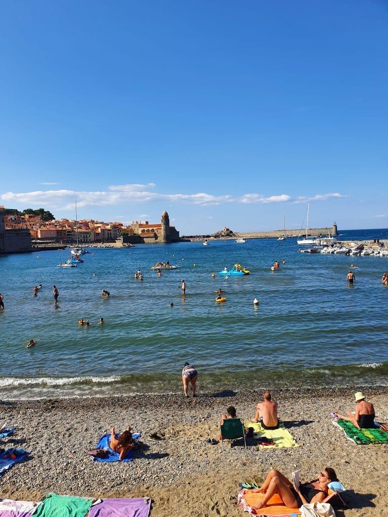 La plage, la mer et Collioure