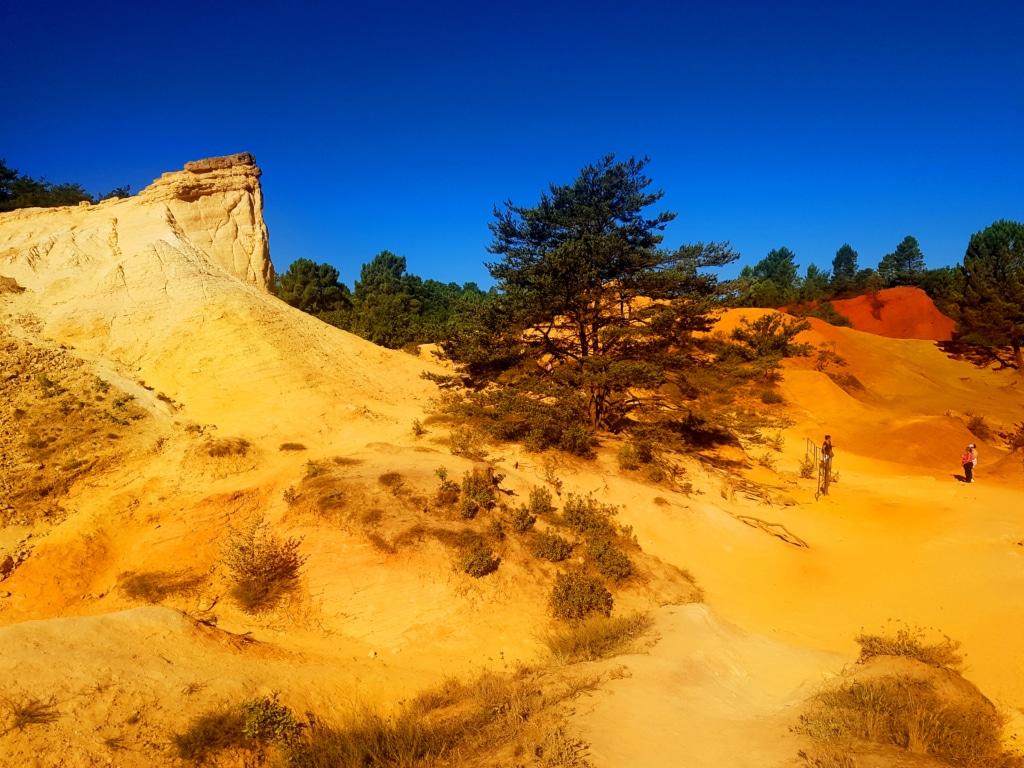 Les paysages du Colorado provençal (ou Ocres de Rustrel)