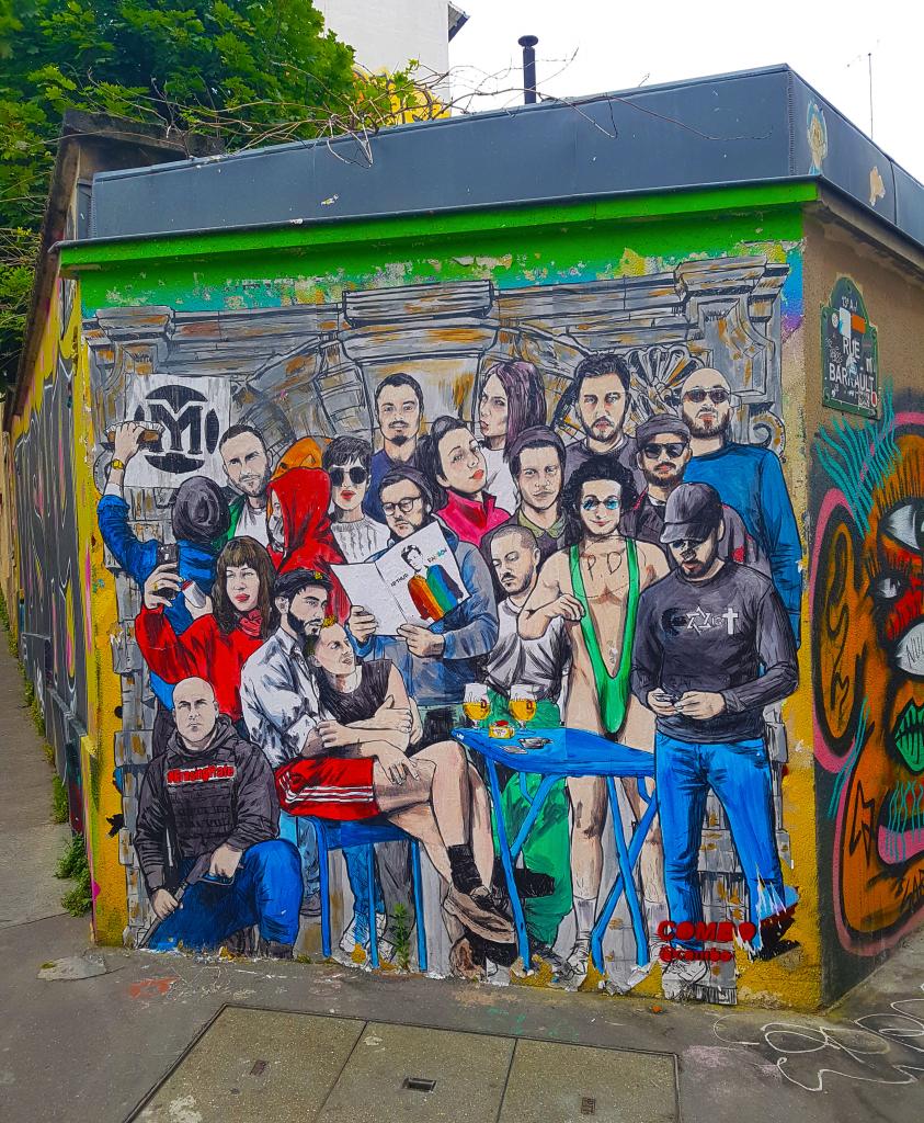 Les détournements de COMBO, Buttes-aux-Cailles. Street art Paris.
