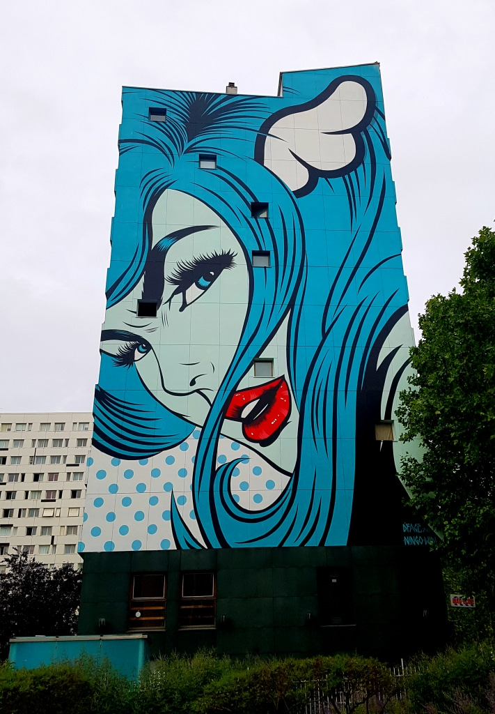 L'amour selon D Face, street art Paris 13