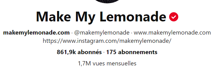 La description de leur compte Pinterest