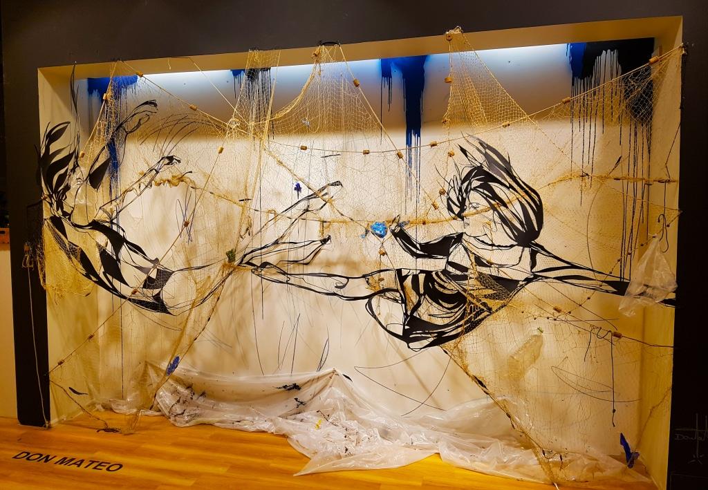 Le street artiste Don Mateo pour l'exposition street art One Shot à Confluence, Lyon