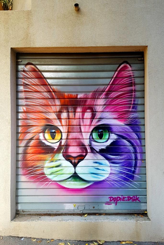 Le chat de Dopie, impasse Noël Verlaque, art urbain La Seyne-sur-Mer