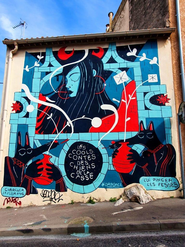 La fresque street art de Dr Ponce à Sète