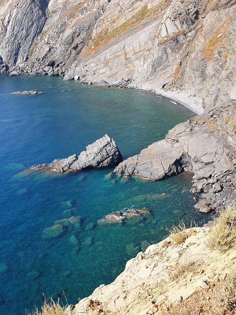 Plage du Minerai à Cerbère, région de Collioure