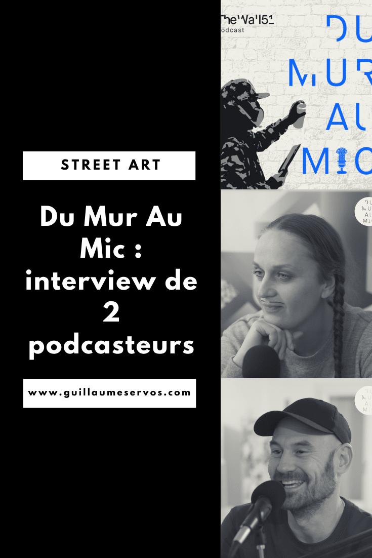 Découvre mon interview avec Catherine Dumas et Pierre Terrier du podcast Du Mur Au Mic dédié à l'art urbain. Au menu : leur rapport au podcasting, aux réseaux sociaux et au voyage.