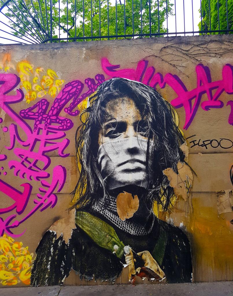 Eddie Colla à la Manufacture des Gobelins, street art Paris entre Mouffetard et la Butte-aux-Cailles.