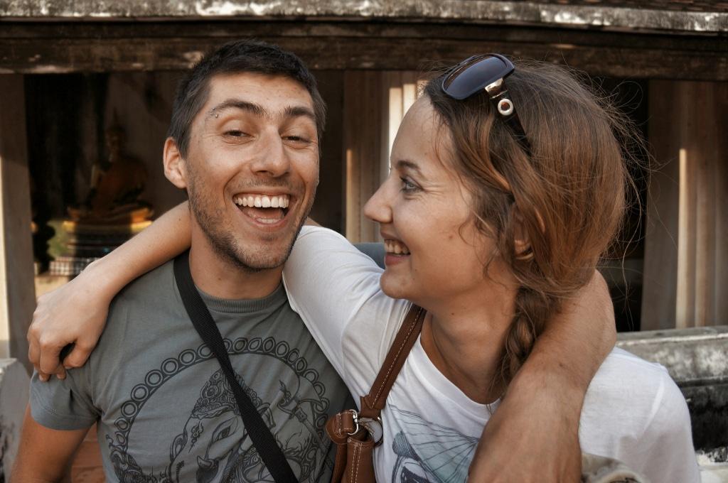 Fabienne et Benoit toujours avec la sourire, blog voyage Novo-Monde