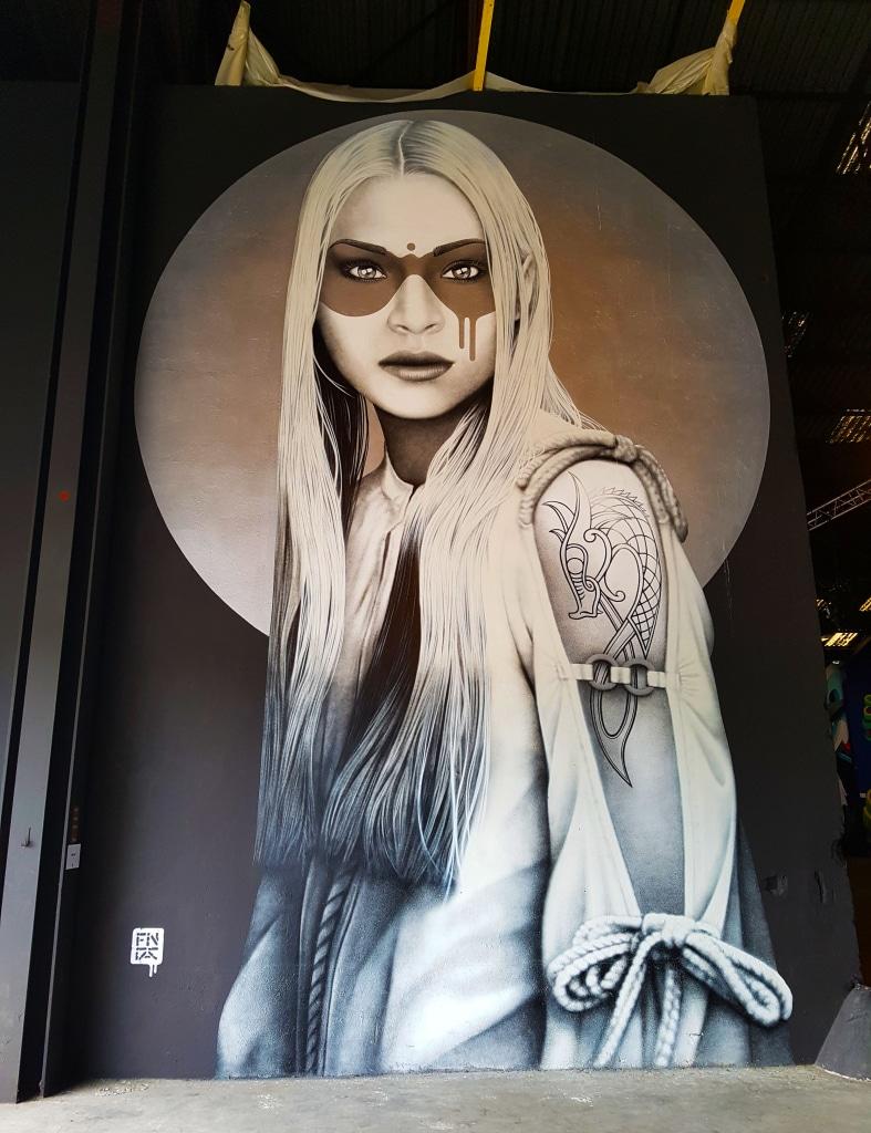 Né à Cork (Irlande), Fin Dac vit aujourd'hui à Londres où il dirige une galerie de street art à Soho, baptisée Beautiful Crimes.