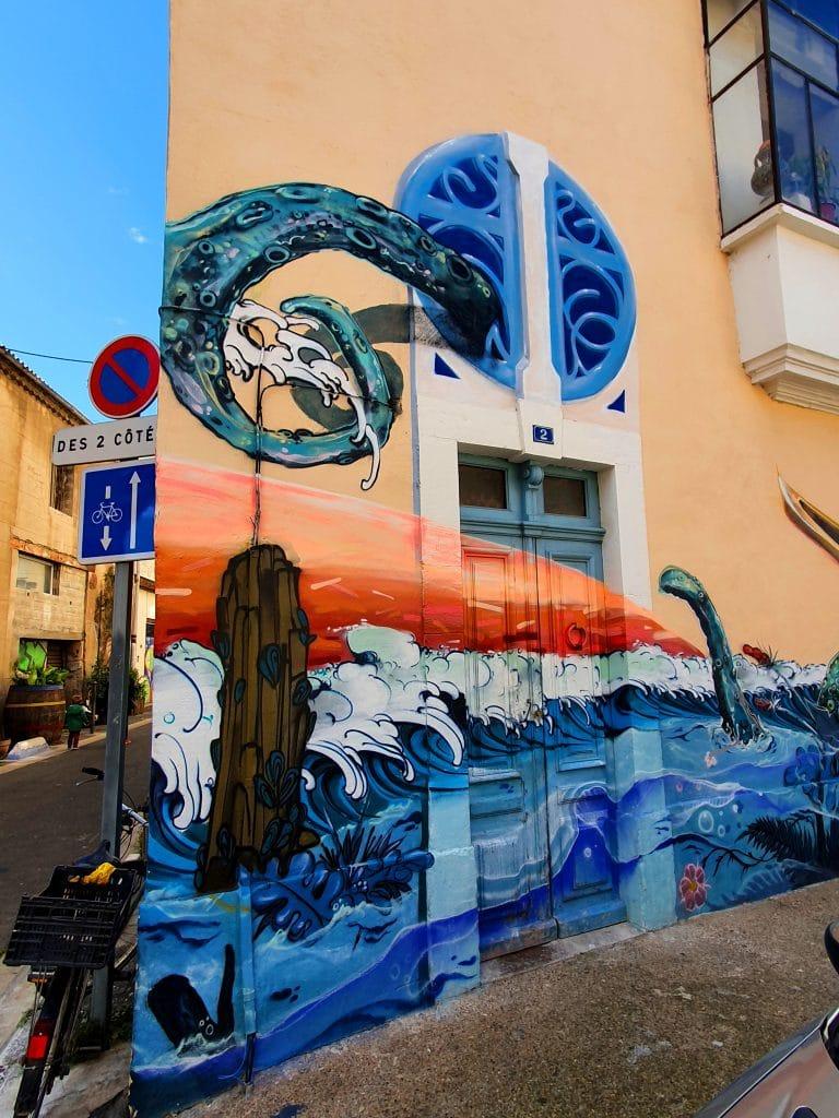 Street art Sète #20 : Gaston Labaffe et Naoui
