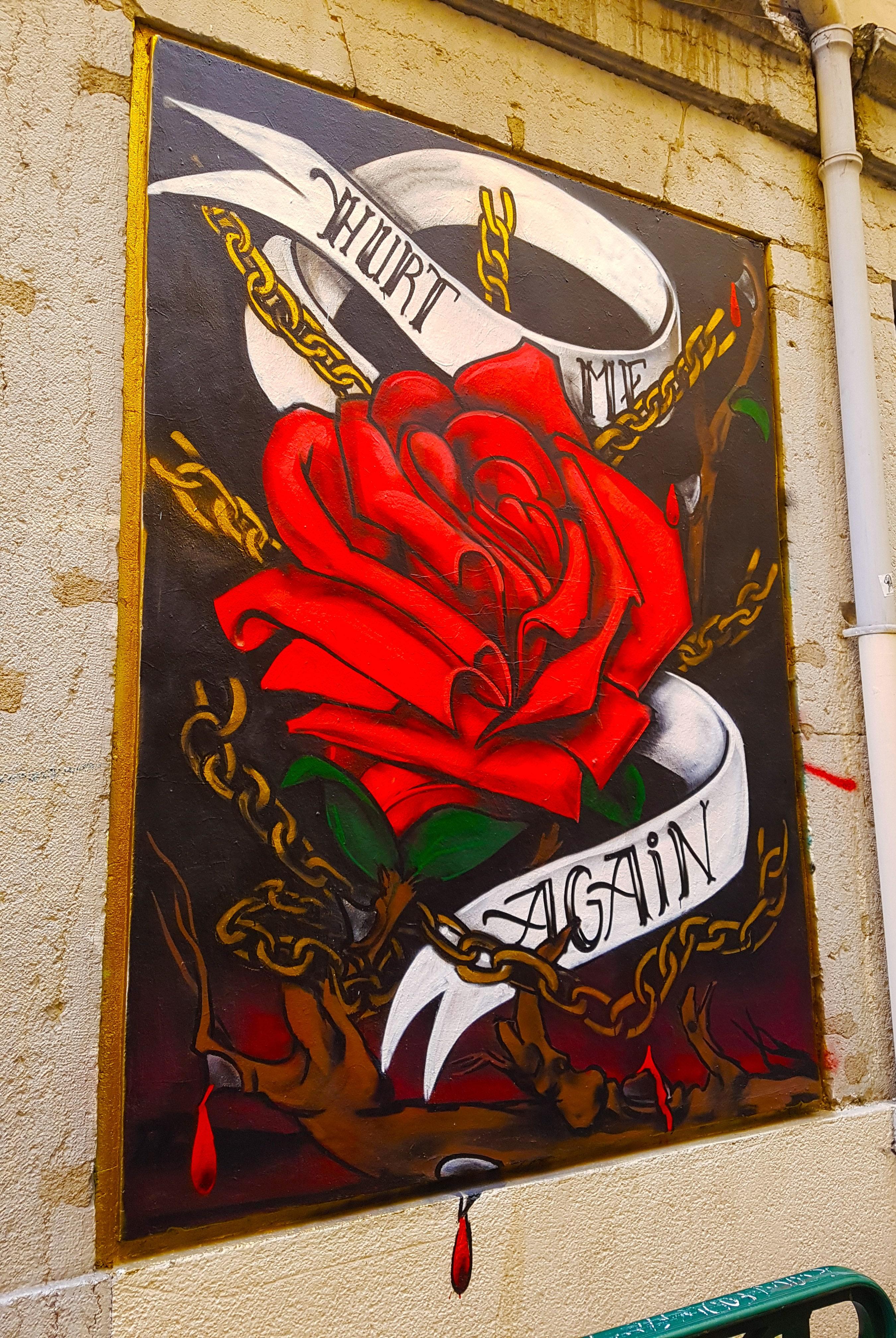 le coeur du street artiste lyonnais Georges de Loup