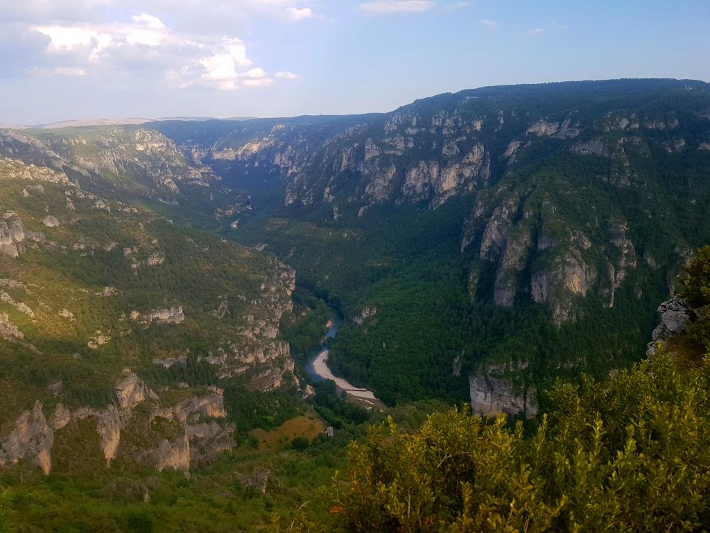 Le Point Sublime et les gorges du Tarn dans le département de la Lozère en France