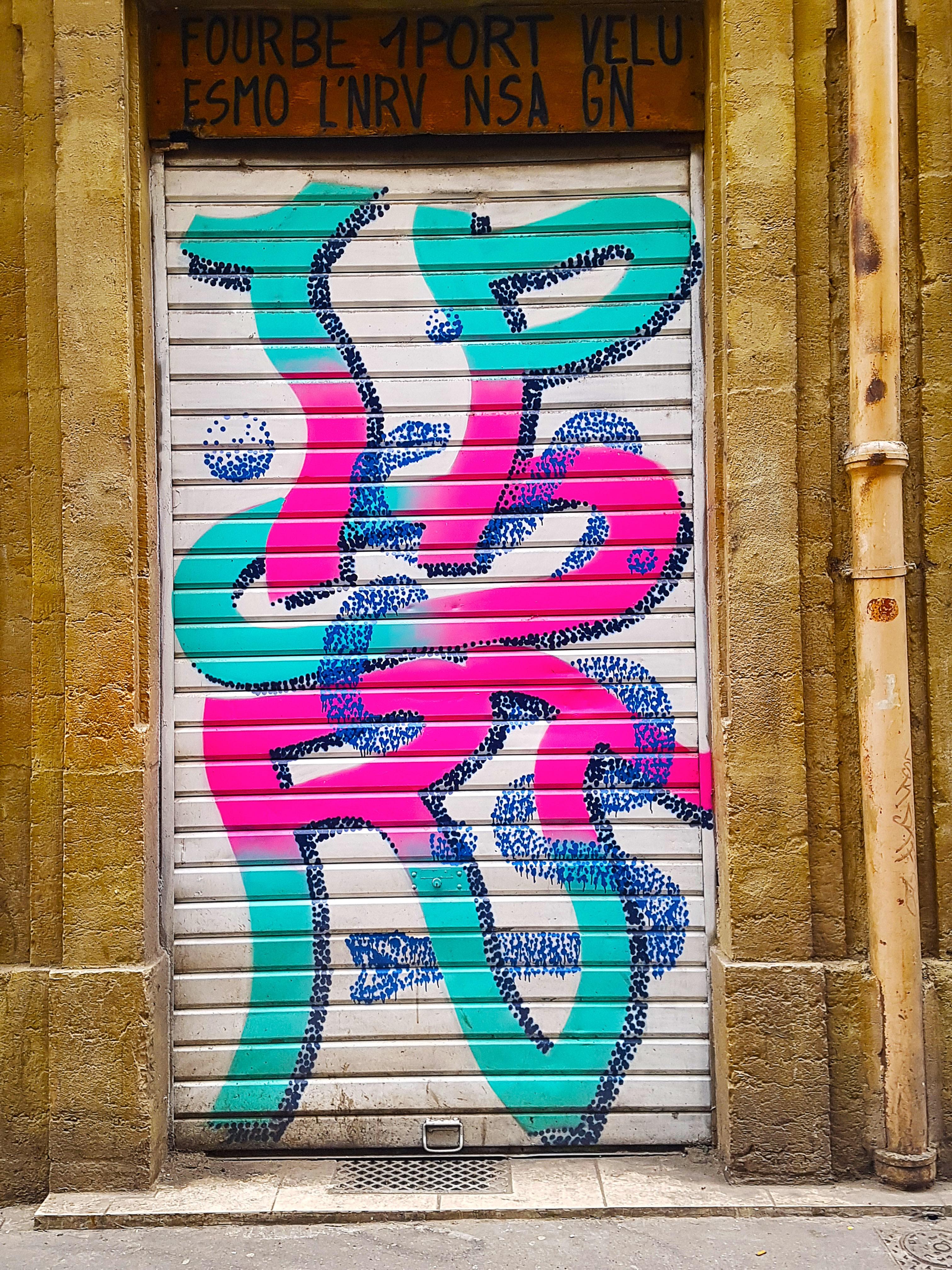 graffiti près de la place des terreaux à Lyon