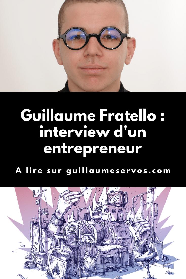 Découvre mon interview avec Guillaume Fratello, fondateur de la Galerie Fratello. Au menu : son rapport à l'entrepreneuriat, aux réseaux sociaux et au voyage.