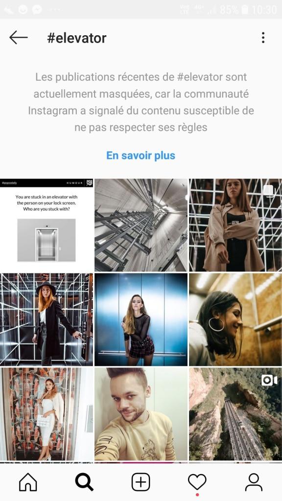 Reste à l'écart des hashtags interdits par Instagram