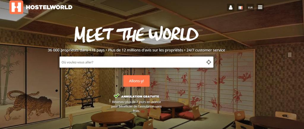 Hostelworld pour réserver tes nuits en auberge de jeunesse (préparer son voyage)