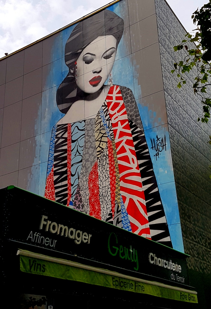 Le street art de Hush dans le 13 arrondissement de Paris