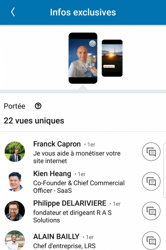 Qui voit mes stories LinkedIn ?