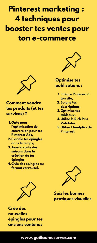 As-tu as inclus Pinterest dans la stratégie marketing de ton e-commerce ? Au menu : optimiser et vendre avec ses épingles, les bonnes pratiques visuelles, créer des nouvelles épingles pour tes anciens contenus...