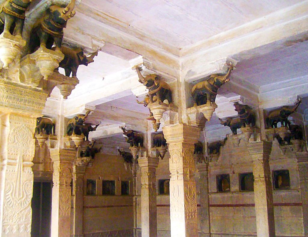 A l'intérieur du Garth Palace à Bundi (Inde)