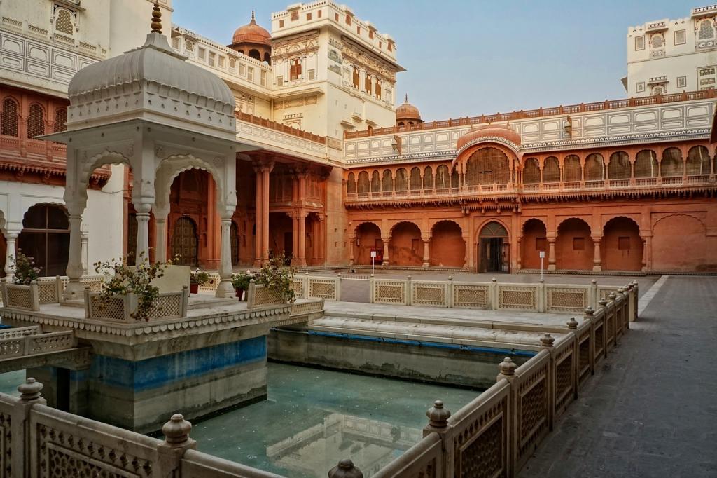 A l'intérieur du Junagarth Fort de Bikaner au rajasthan (Inde)