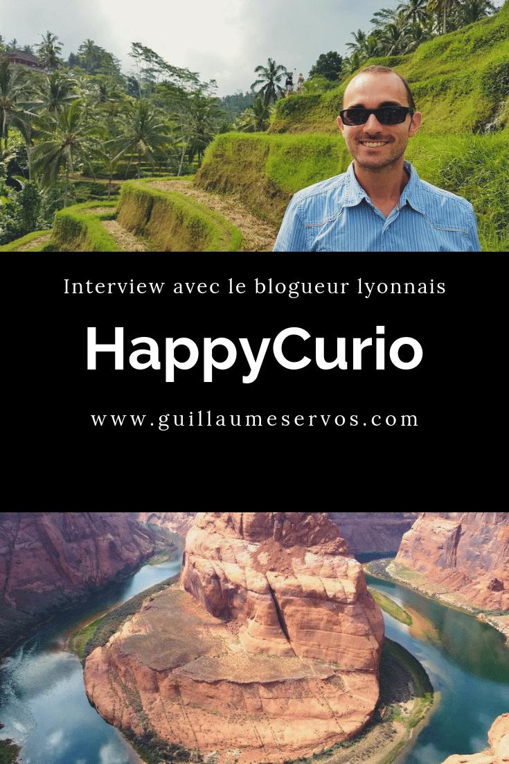 Découvre mon interview avec le blogueur lyonnais HappyCurio. Au menu : son rapport à son blog, aux réseaux sociaux, au voyage et sa carte blanche.