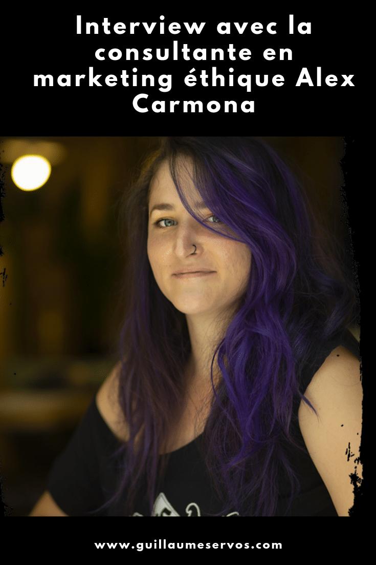 Découvre mon interview avec Alex Carmona, consultante en marketing éthique. Au menu : son rapport au freelancing, aux réseaux sociaux et au voyage.