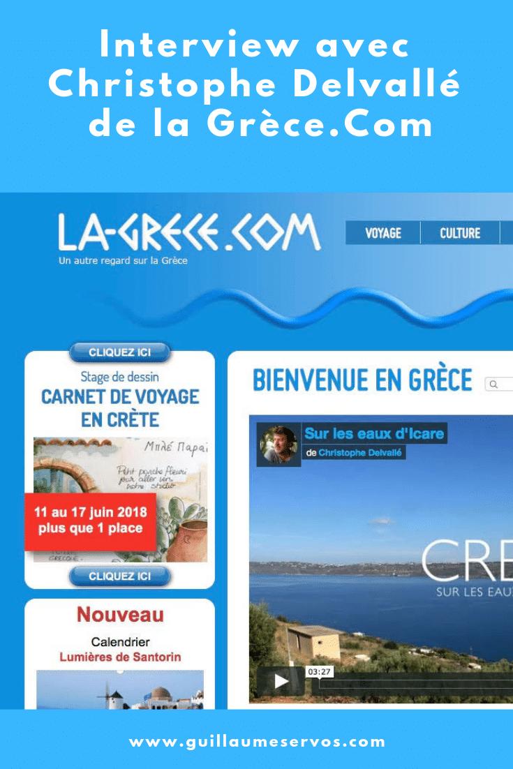 Découvre mon interview avec Christophe Delvallé du sitela-grece.com. Au menu : son rapport au blogging, aux réseaux sociaux, au voyage et sa carte blanche.